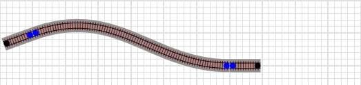 Railroad-Professional: Flexgleis nach dem Verformen und Einrasten