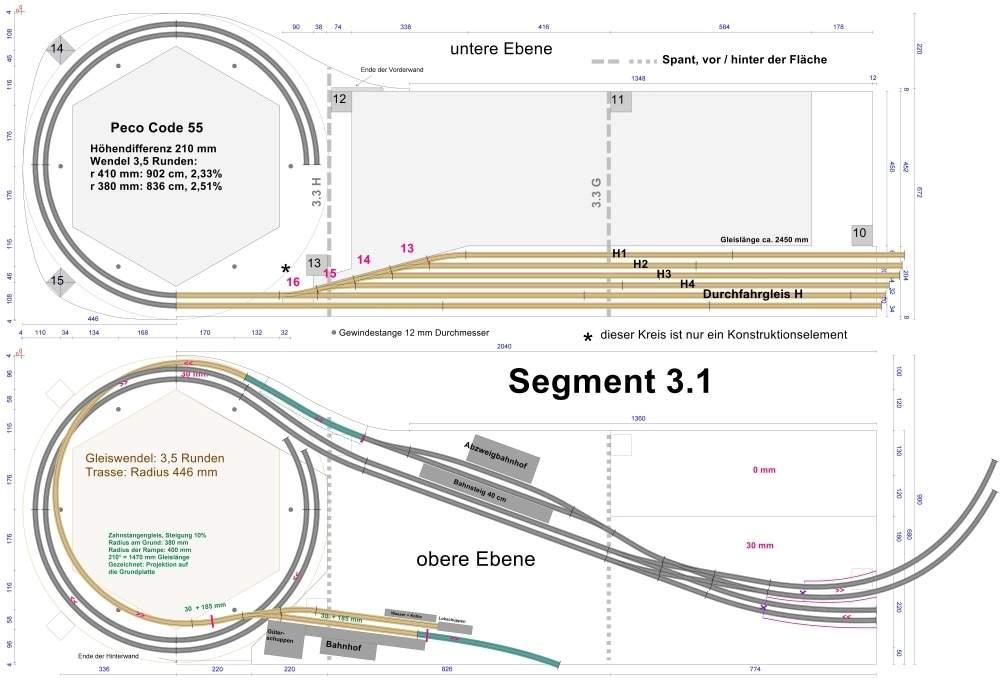 Beispiel 1: technischer Konstruktionsplan; Vollbild.