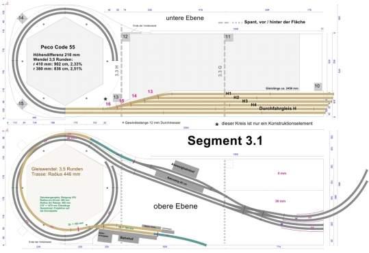 Railroad-Professional: Beispiel für einen kontruktionsbezogenen Gleisplan.