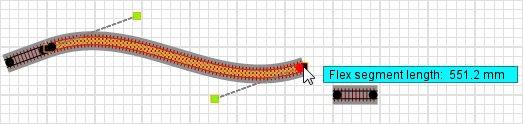 Railroad-Professional: Flex track during deformation by flex system